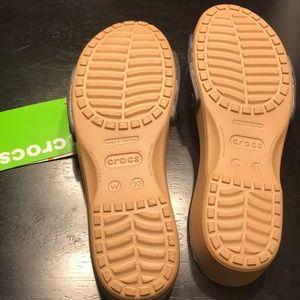 1370a206f7e8 CROCS Shoes - NEW Crocs Sarah sandal size 10 gold navy blue